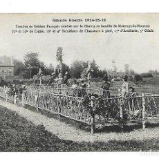 Postales: LA GUERRA MUNDIAL DE 1.914-TUMBAS DE SOLDADOS FRANCESES SOBRE EL CAMPO DE BATALLA DE MAURUPT MONTOIS. Lote 222366918