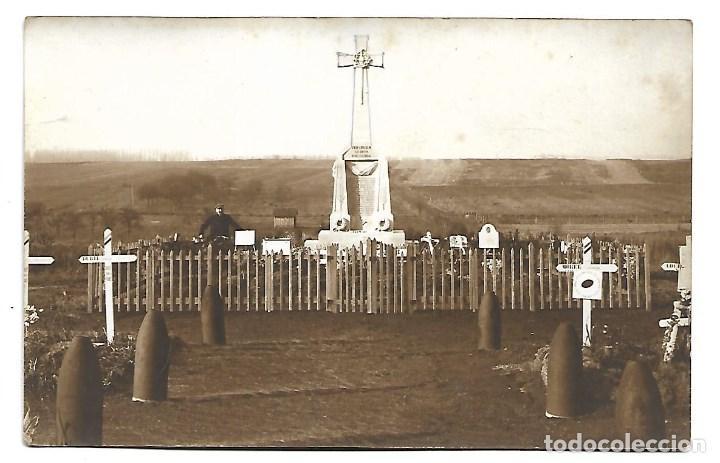 Postales: 3 POSTALES LA GUERRA MUNDIAL DE 1.914- LAS TUMBAS DE LOS SOLDADOS FRANCESES - Foto 2 - 222375416