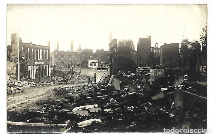 LA GUERRA MUNDIAL DE 1.914-LUNEVILLE -ESTADO DE LA CIUDAD (Postales - Postales Temáticas - I Guerra Mundial)