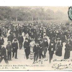 Postales: ANTIGUA POSTAL DE EL REY Y LA REINA DE ITALIA EN PARIS DEL 14 AL 18 DE OCTB DE 1.903 - CIRCULADA. Lote 222552105