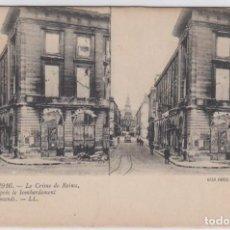 Postales: POSTAL ESTEREOSCÓPICA. GUERRE 1914-1916. LE CRIME DE REIMS. ED. LÉVY. PARIS. SIN CIRCULAR.. Lote 225188628