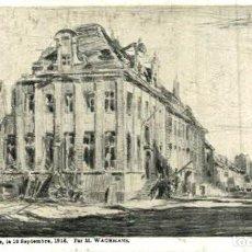 Postais: NIEUPORT- HOTEL DE VILLE 10 SEPTEMBRE 1916 EERST WERELDOORLOG BELGIË BELGIQUE 191418 WWI WWICOLLECT. Lote 232547805