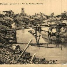Postais: RUINES DE DIXMUDE- CANAL ET LE PONT DU MARCH AUX POMMES - EERST WERELDOORLOG BELGIË BELGIQUE 191418. Lote 232548120
