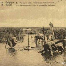 Postais: BELGIQUE- EN NO MANS LAND. VERS LES POSITIONS ENNEMIES - EERST WERELDOORLOG BELGIË BELGIQUE 191418. Lote 232548425