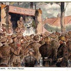 Postais: AU FEU DE LA RAMPE, PAR JAMES THIRIAR -ILLUSTRATION EERST WERELDOORLOG BELGIË BELGIQUE 191418 WWI W. Lote 232548940
