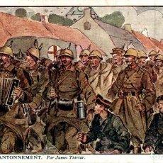 Postais: AU FEU DE LA RAMPE, PAR JAMES THIRIAR -ILLUSTRATION EERST WERELDOORLOG BELGIË BELGIQUE 191418 WWI W. Lote 232548960
