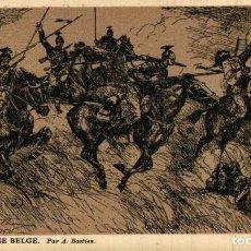 Postais: LANCIERS- ARMEE BELGE. PAR A.BASTIEN EERST WERELDOORLOG BELGIË BELGIQUE 191418 WWI WWICOLLECTION. Lote 232549110