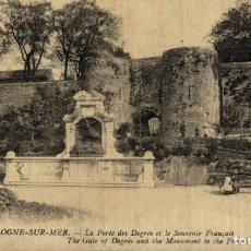Cartes Postales: BOULOGNE-SUR-MER,LE PORTE DES DEGRES ET LE SOUVENIR FRANÇAIS. GUERRE FRANCE 191418 WWI WWICOLLECTIO. Lote 232550000