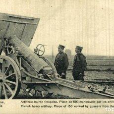 Cartes Postales: ARTILLERIE LOURDE FRANÇAISE.PIECE DE 150 MANOEUVRE PAR LES ARTILLEURS DU CREUSOT GUERRE FRANCE 1914. Lote 232550330