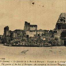 Cartes Postales: PERONNE. QUARTIER DE LA PORTE DE BRETAGNE. GUERRE FRANCE 191418 WWI WWICOLLECTION. Lote 232550895