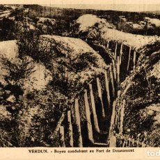 Cartes Postales: VERDUN, BOYAU CONDUISANT AU FORT DE DOUAMONT. GUERRE FRANCE 191418 WWI WWICOLLECTION. Lote 232551135