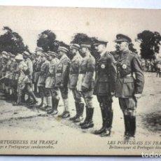 Postales: POSTAL OS PORTUGUEZES EM FRANÇA - INGLEZES E PORTUGUEZES CONDECORADOS. AÑO 1917. Lote 242919505