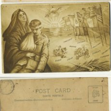 Postales: POSTAL FINAL PRIMERA GUERRA MUNDIAL PAZ 1919. Lote 244442595