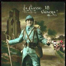 Cartes Postales: GIROEXLIBRIS.- FRANCIA ANTIGUA POSTAL CIRCULADA DE SOLDADO EN EL FRENTE (POSTAL COLOREADA A MANO). Lote 252313195