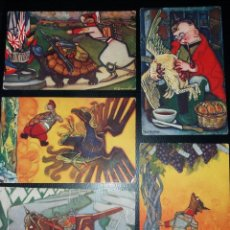 Postales: 5 POSTALES I GUERRA MUNDIAL, IL. F. SANCHA, ESOPO, OILETTE. SIN CIRCULAR. Lote 252865610