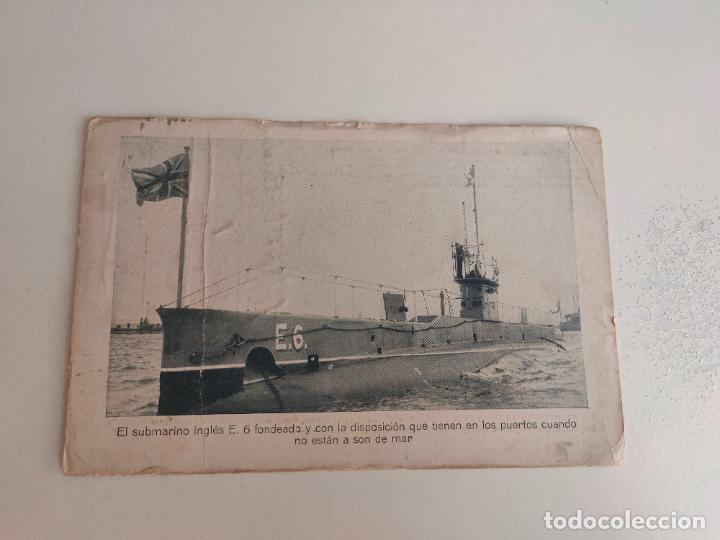 POSTAL SUBMARINO INGLES E.6. PRIMERA GUERRA MUNDIAL. CORREO HABANA LONDRES 1917 (Postales - Postales Temáticas - I Guerra Mundial)