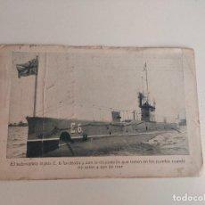 Postales: POSTAL SUBMARINO INGLES E.6. PRIMERA GUERRA MUNDIAL. CORREO HABANA LONDRES 1917. Lote 254204015