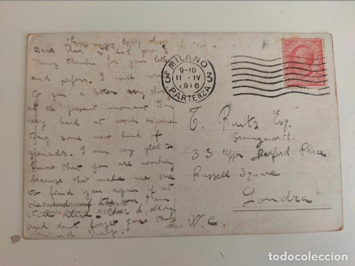 Postales: Postal italiana 1ª guerra mundial. Regglimento artigleria a caballo. 1916 - Foto 2 - 254251385