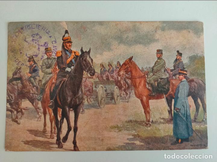 POSTAL ITALIANA 1ª GUERRA MUNDIAL. REGGLIMENTO ARTIGLERIA A CABALLO. 1916 (Postales - Postales Temáticas - I Guerra Mundial)