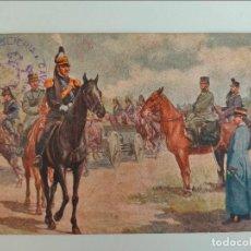 Postales: POSTAL ITALIANA 1ª GUERRA MUNDIAL. REGGLIMENTO ARTIGLERIA A CABALLO. 1916. Lote 254251385