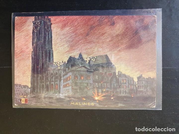 MALINES, BÉLGICA EDIFICIOS DESTRUIDOS (Postales - Postales Temáticas - I Guerra Mundial)