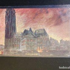 Postales: MALINES, BÉLGICA EDIFICIOS DESTRUIDOS. Lote 254796290