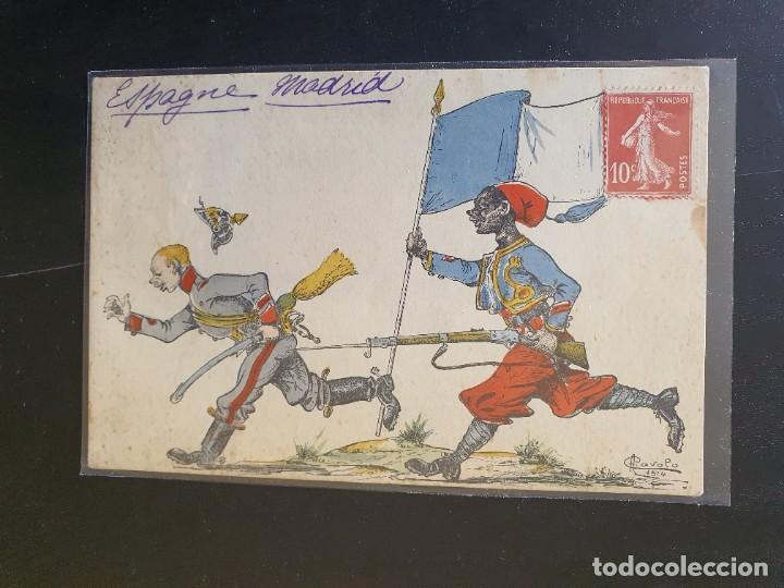 CARICATURA SOLDADO PRIMERA GUERRA MUNDIAL (Postales - Postales Temáticas - I Guerra Mundial)