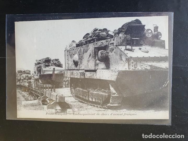 FRENTE FRANCÉS, EMBARQUE DE CARROS DE ASALTO FRANCESES. (Postales - Postales Temáticas - I Guerra Mundial)