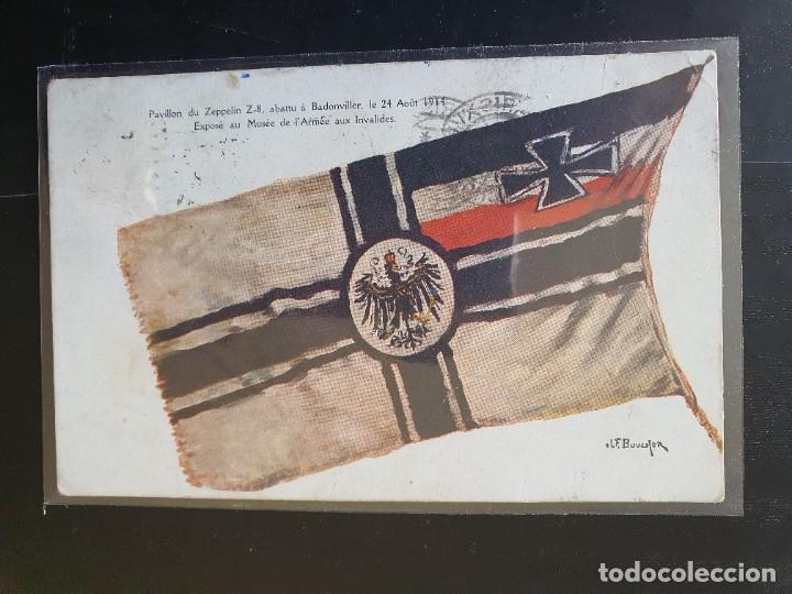 BANDERA EXPUESTA EN EL PLABELLÓN ZEPPLELIN , ESPUESTA EN EL MUSEO DEL EJÉRCICOEN LOS INVÁLIDOS (Postales - Postales Temáticas - I Guerra Mundial)