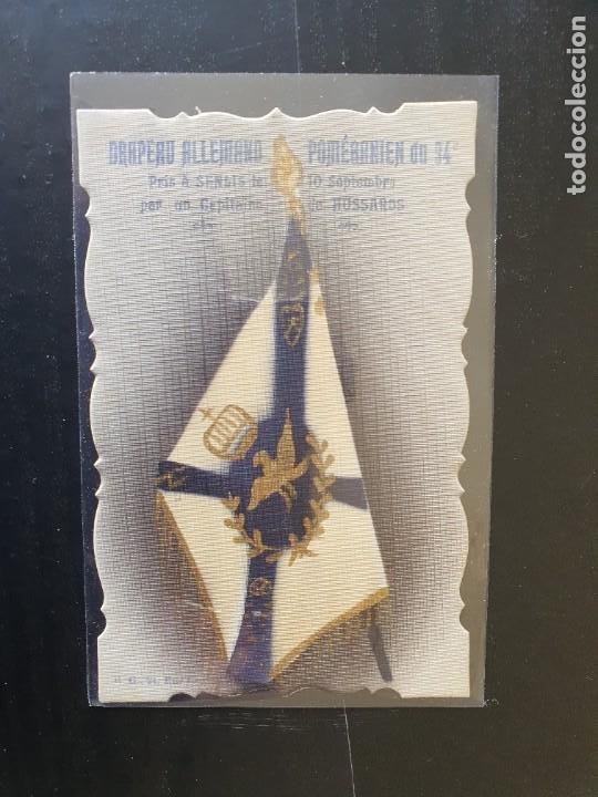 BANDERA ALEMÁN POMERANIEN DU 94. TOMADA A LOS ALEMANES. POSTAL TROQUELADA (Postales - Postales Temáticas - I Guerra Mundial)