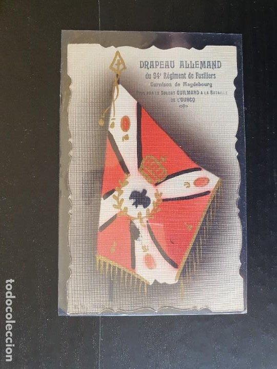 BANDERA ALEMANA DEL 94 REGIMIENTO DE FUSILEROS (Postales - Postales Temáticas - I Guerra Mundial)