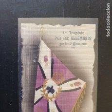 Postales: BANDERA TOMADA A LOS ALEMANES POR LE 10 CHASSEURS. Lote 254801255