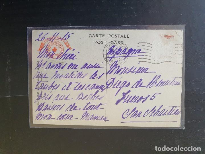 Postales: BANDERA TOMADA A LOS ALEMANES POR EL SOLDADO GUILLEMARD DEL 298 REGIMIENTO DE INFANTERÍA - Foto 2 - 254802020