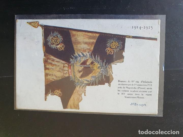 BANDERA TOMADA A LOS ALEMANES EL 19 DE SEPTIEMBRE DE 1914. (Postales - Postales Temáticas - I Guerra Mundial)