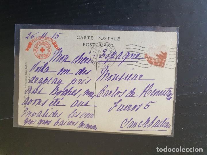 Postales: BANDERA TOMADA A LOS ALEMANES EL 19 DE SEPTIEMBRE DE 1914. - Foto 2 - 254802400