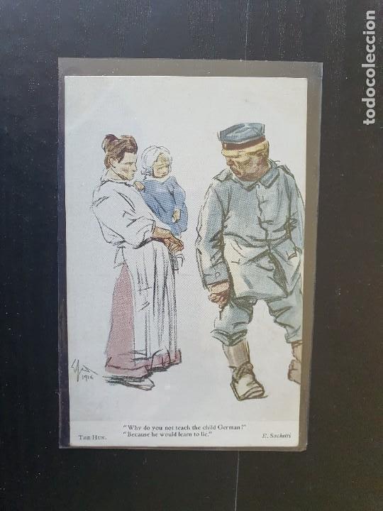 CARICATURA RELACIONADA CON LA PRIMERA GUERRA MUNDIAL. POR E. SACHETTI (Postales - Postales Temáticas - I Guerra Mundial)