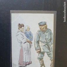 Postales: CARICATURA RELACIONADA CON LA PRIMERA GUERRA MUNDIAL. POR E. SACHETTI. Lote 254803090