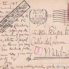 Postales: TARJETA POSTAL ROMA. CENSURA MILITAR PRIMERA GUERRA MUNDIAL. CIRCULADA.. Lote 257273100