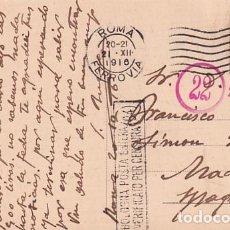 Postales: TARJETA POSTAL ROMA. CENSURA MILITAR PRIMERA GUERRA MUNDIAL. CIRCULADA.. Lote 257274280