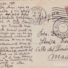 Postales: TARJETA POSTAL ROMA. CENSURA MILITAR PRIMERA GUERRA MUNDIAL. CIRCULADA.. Lote 257274415