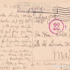 Postales: TARJETA POSTAL ROMA. CENSURA MILITAR PRIMERA GUERRA MUNDIAL. CIRCULADA.. Lote 257275355