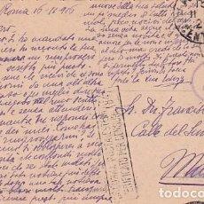 Postales: TARJETA POSTAL ROMA. CENSURA MILITAR PRIMERA GUERRA MUNDIAL. CIRCULADA.. Lote 257278335