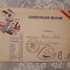 Postales: TARJETA POSTAL CORRESPONDANCE MILITAIRE NOVIEMBRE 1914 FRANCIA FRANCE GUERRA MUNDIAL. Lote 263199770