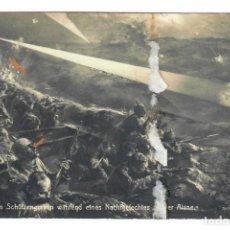 Postales: BATALLA DEL AISNE (SEPTIEMBRE DE 1914) - CIRCULADA EN 1915 - SELLO DE BRASIL. Lote 266006613