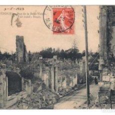 Postales: VERDUN (FRANCIA) - RUE DE LA BELLE-VIERGE - CIRCULADA EN 1923. Lote 266009153
