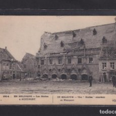 Postales: POSTAL DE BELGICA - 1914... EN BELGIQUE - LES HALLES À NIEUPORT - BELGIQUE. Lote 268949794