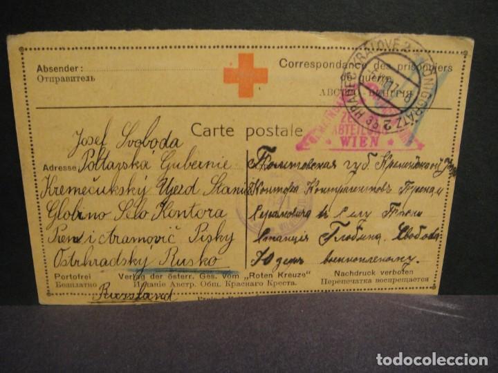 CRUZ ROJA - CORRESPONDENCIA DE PRISIONEROS DE GUERRA AÑO 1917 (Postales - Postales Temáticas - I Guerra Mundial)