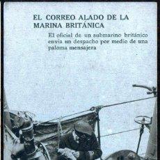 Postales: GIROEXLIBRIS. REINO UNIDO. GUERRA MUNDIAL.- ANTIGUA POSTAL CORREO ALADO DE LA MARINA BRITÁNICA. Lote 290034973