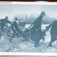 Postales: ANTIGUA POSTAL ORIGINAL DE LA DIVISION AZUL EN RUSIA - ANTITANQUES AL CAMBIAR DE . Lote 876136