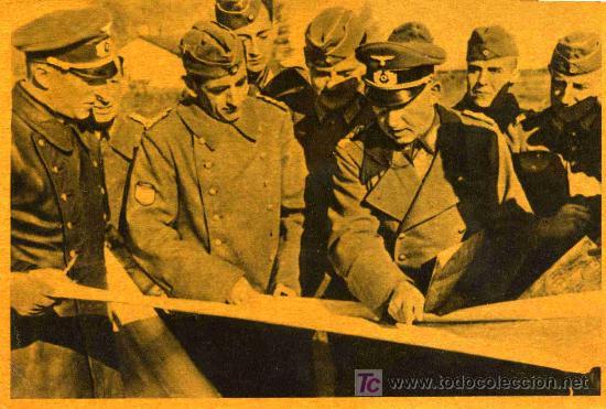 POSTAL DE LA DIVISION AZUL LA CRUZADA EUROPEA CONTRA EL BOLCHEVISMO (Postales - Postales Temáticas - II Guerra Mundial y División Azul)